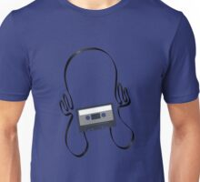 Retro 80s Cassette Headphones Unisex T-Shirt