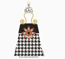 The Katy Bag / Black Licorice Houndstooth by Susan R. Wacker