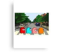 Pac Man Abbey Road Canvas Print