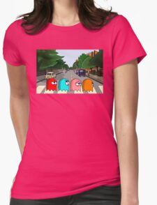 Pac Man Abbey Road Womens Fitted T-Shirt