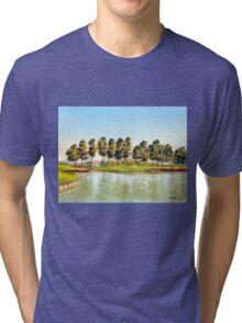 Sawgrass Golf Course Hole 17 Tri-blend T-Shirt