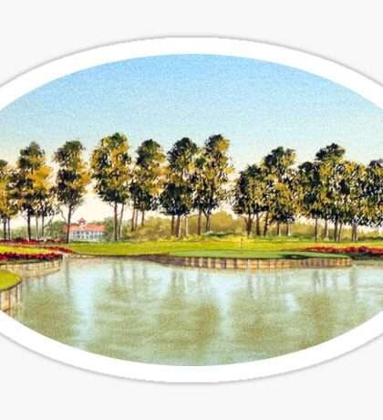 Sawgrass Golf Course Hole 17 Sticker