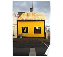 Yellow house in Reykjavik Poster