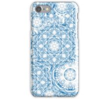 Blue patchwork, decorative shapes and patterns iPhone Case/Skin