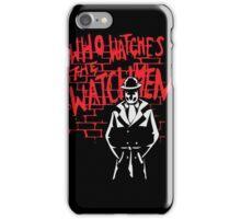 Rorschach - Who watches the WATCHMEN iPhone Case/Skin