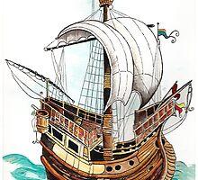 Hanseatic Ship by Mark Frazier