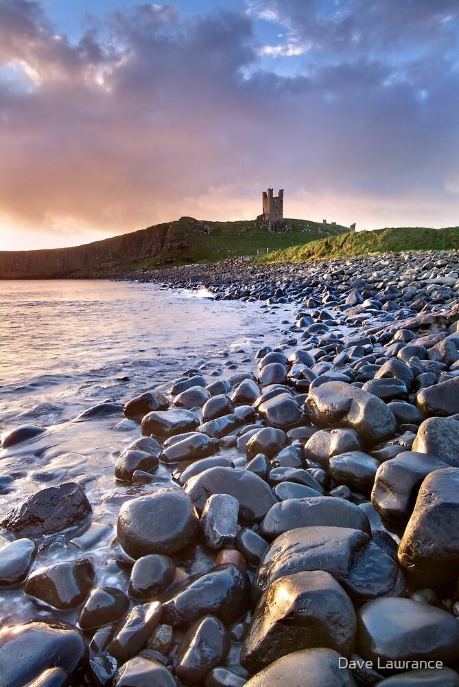 Dunstanburgh Castle Dawn by Dave Lawrance