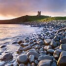 Dunstanburgh Castle Dawn by Dave Lawrance