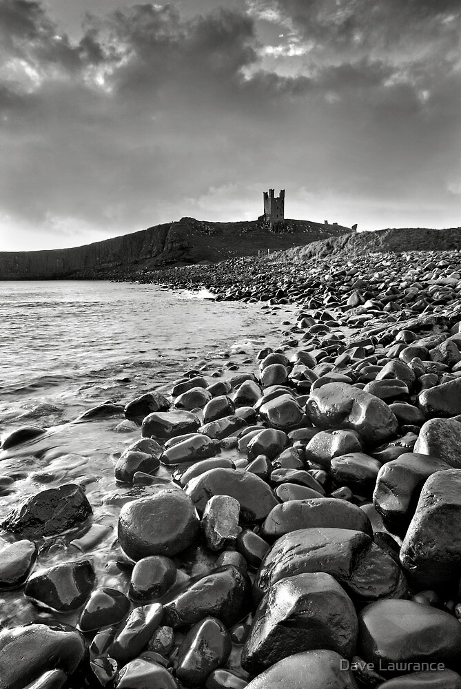 Dunstanburgh Castle - Mono by Dave Lawrance