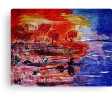 Hard week, time to go fishing, watercolor Canvas Print