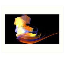 Orange Caldera Art Print