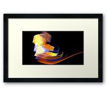 Orange Caldera Framed Print
