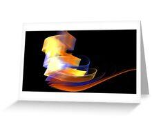 Orange Caldera Greeting Card
