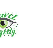 Travel Lightly with green Belladonna eye by jazzydevil