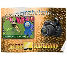 "Banner - won first place in the Nikon Fun Group"" Poster"