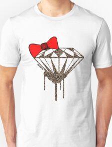 DIAMOND WITH A BOW TIE W/ LEOPARD PRINT :D Unisex T-Shirt