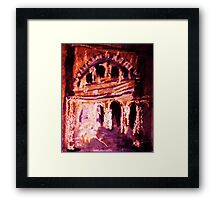 The old  building, dearly loved watercolor Framed Print