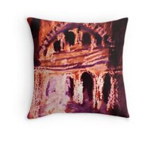 The old  building, dearly loved watercolor Throw Pillow