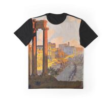 Vintage Travel Poster: Rome Graphic T-Shirt