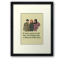 Peruvian Folk Band Framed Print