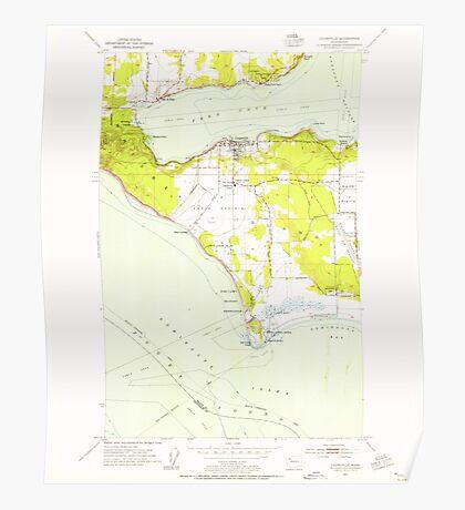USGS Topo Map Washington State WA Coupeville 240713 1953 24000 Poster
