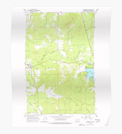 USGS Topo Map Washington State WA Springdale 243968 1965 24000 Poster
