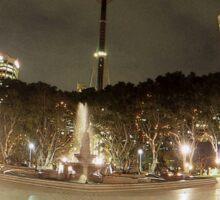 Hyde Park & Centrepoint Tower, Sydney, Australia Sticker