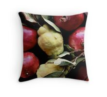 Quince and Pomegranates Throw Pillow