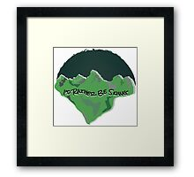 I'd Rather Be Skiing - Green Framed Print