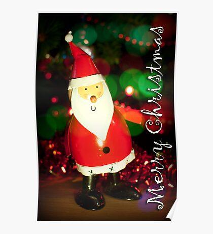Tin Santa Poster