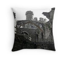 Conwy Castle  North Wales UK Throw Pillow