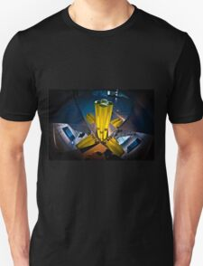 Abstract 3d shapes Yellow Cones  Unisex T-Shirt