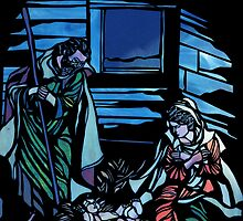 Nativity Stained Glass by 2HivelysArt