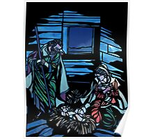 Nativity Stained Glass Poster