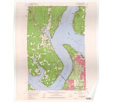 USGS Topo Map Washington State WA Gig Harbor 241267 1959 24000 Poster