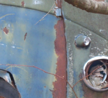 Weathered Old Hippie Bus Sticker