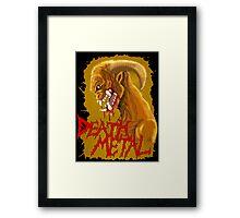 Death Metal Monster Framed Print