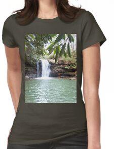 Wilderness Waterfall Womens Fitted T-Shirt