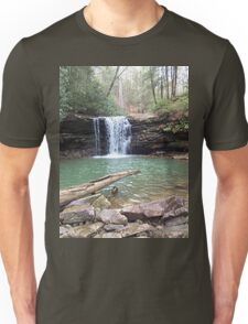 Rustic Appalachian Waterfall Scene Unisex T-Shirt