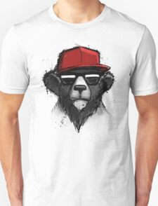 Cool Bear with Red Hat - Streetwear Style Design T-Shirt