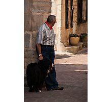 Monsieur et chien Photographic Print