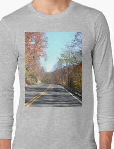 Country Road in the Appalachian Mountains Long Sleeve T-Shirt
