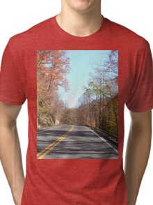 Country Road in the Appalachian Mountains Tri-blend T-Shirt