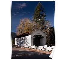The Stewart Covered Bridge near Cottage Grove Oregon  Poster