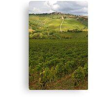 Panzano village in Chianti - Italy Canvas Print