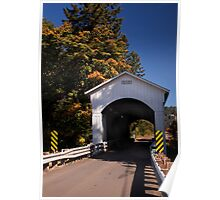 The Mosby Creek Covered Bridge near Cottage Grove Oregon Poster