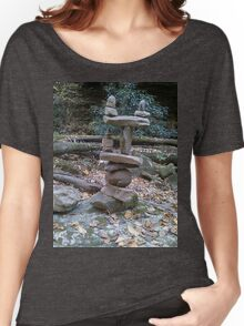 Awesome Stacked River Rock Tower  Women's Relaxed Fit T-Shirt