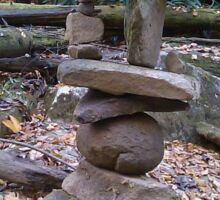 Awesome Stacked River Rock Tower  Sticker