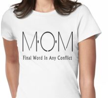 Funny MOM Womens Fitted T-Shirt
