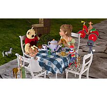 The Toy Tea Party Photographic Print